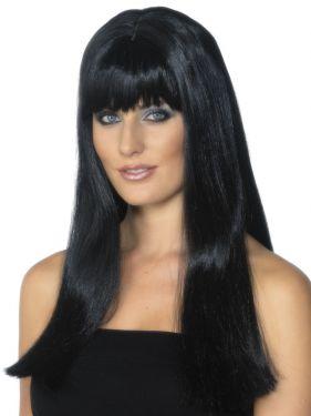 Ladies Mystique Fancy Dress Wig Black